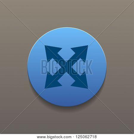 Fullscreen sign icon. Arrows symbol. Vector EPS