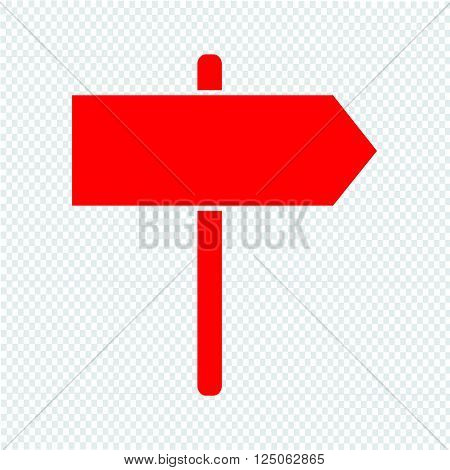 an images of signpost icon Illustration design