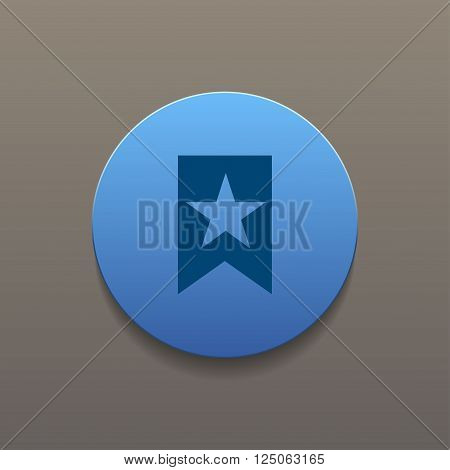 Flat Icon Vector Web Bookmark Ribbon Icon