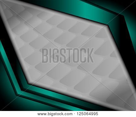 Vector background curve silver grey line on dark space overlap layer graphic for text and message modern artwork design