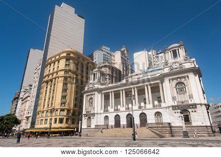 RIO DE JANEIRO, BRAZIL - MARCH 21, 2016: City Hall building in downtown Rio de Janeiro.