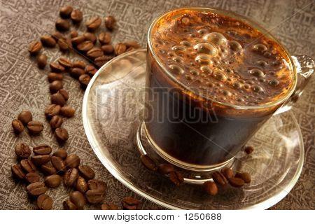 Fresh Hot Sweet Coffee