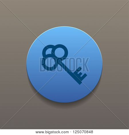 Key vector icon. Flat design style eps 10