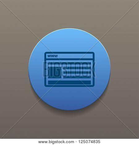 vector mockup of web design icon. Flat