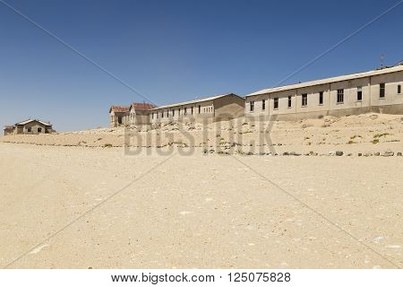 abandoned houses in the ghost town Kolmanskop Namibia