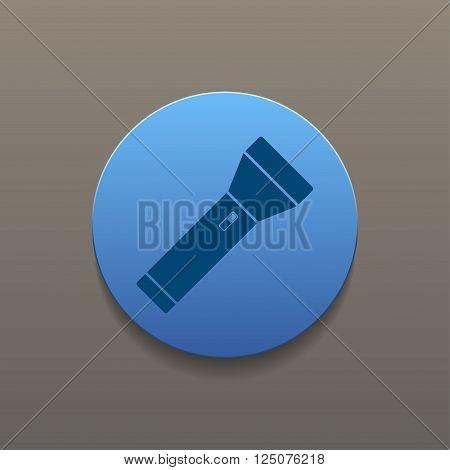 flashlight icon. Flat design style eps 10
