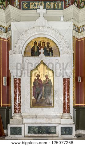 RUSSIA; NOVOCHERKASSK -APRIL 08- The interior of the Holy- Ascension Cathedral on April 08; 2016 in Novocherkassk