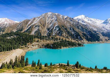 Big Almaty lake is a highland reservoir and natural landmark in Almaty, Kazakhstan.