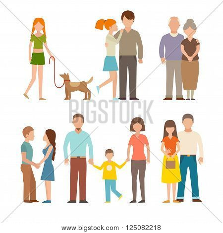 People happy couple cartoon and relationship people lifestyle couple cartoon vector. People couple relaxed cartoon vector illustration set. People couple vector. People couple isolated. People couple icons