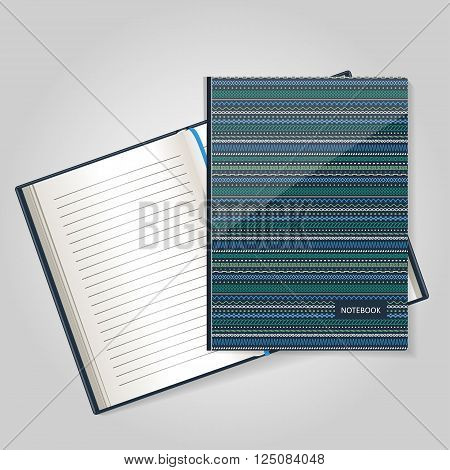 The form for a notebook the daily log. Corporate identity. Vector.