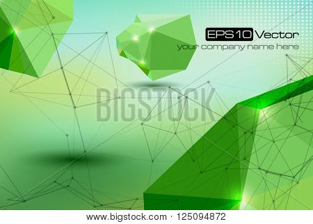 Abstract technology futuristic network - fantasy plexus background - vector illustration