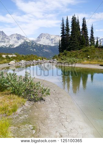 Harmony Lakes on Whistler Mountain, Whistler, BC, Canada