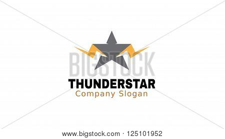 Thunder Star Creative And Symbolic Logo Design Illustration