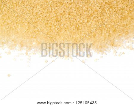 Surface coated with the stevia cane sugar as a backdrop composition isolated over the white background