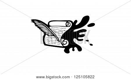 Ink and paper Creative And Symbolic Logo Design Illustration