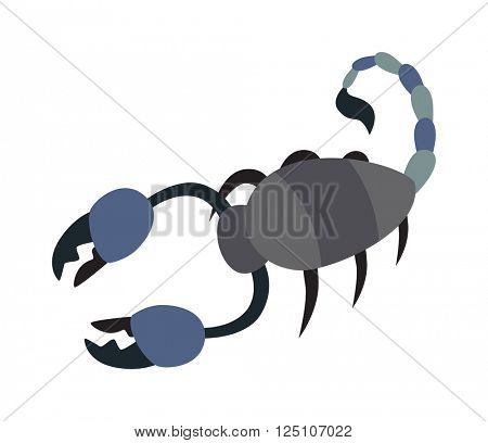 Scorpion yellow silhouette insect animal vector illustration
