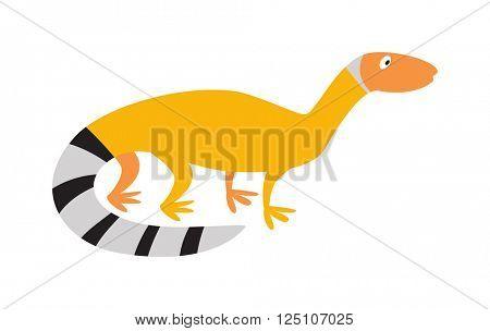 Chinese water dragon lizard nature animal reptile cartoon silhouette vector illustration.