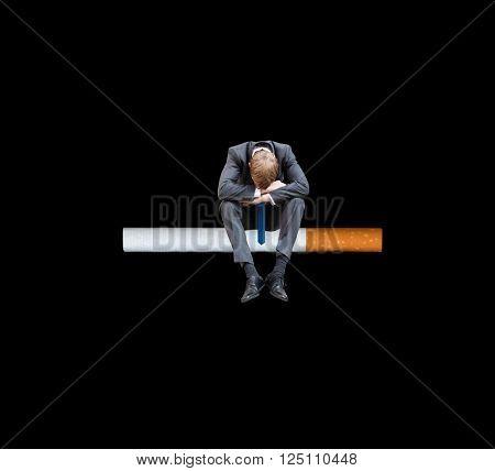 A sad smoker
