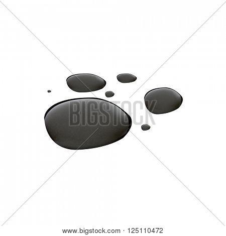Crude oil on white