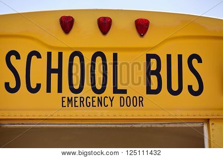 emergency door pried open from school bus after collision