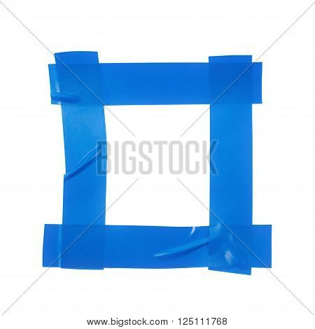 Square frame made of insulating tape pieces isolated over the white background