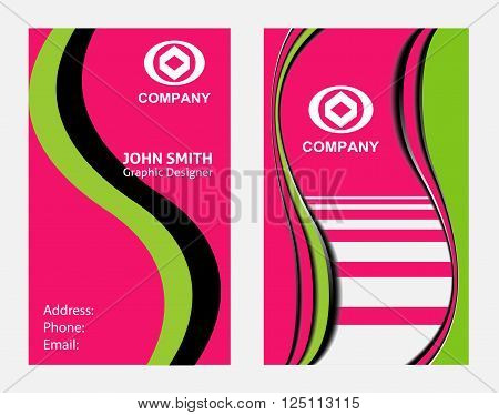 Business cards vector design template Business cards