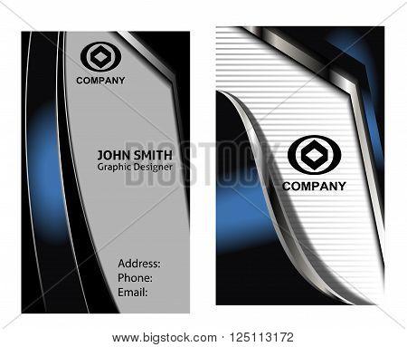 Business card set Business card set blue
