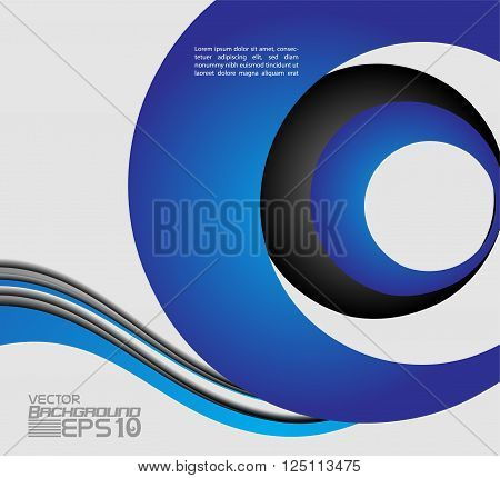 Blue background curve line on space shadow overlap and dimension modern texture pattern for text and message website design