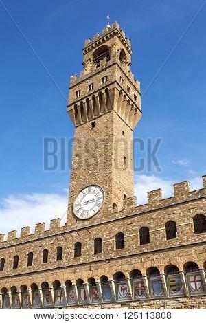 Tower of Palazzo della Signoria, Florence, Italy