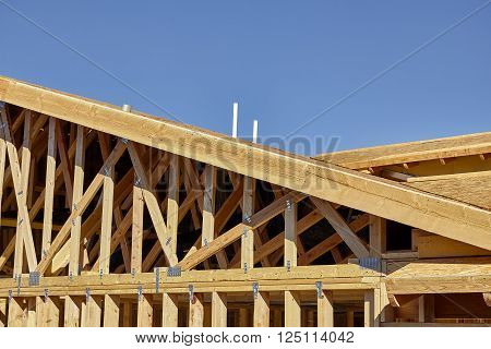 Home building construction carpentry gable roof framing detail