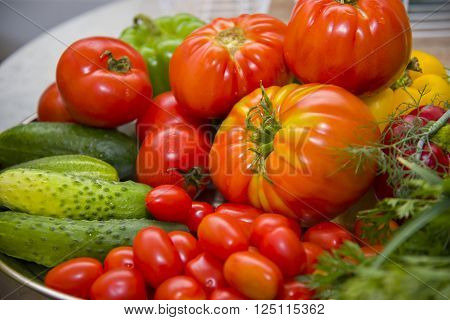 Fresh, wholesome and appetizing vegetables from the garden.