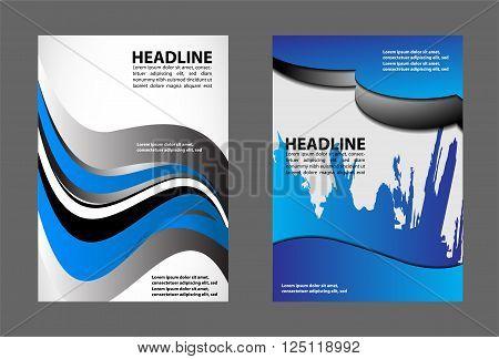 modern brochure design vector template design blue