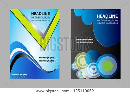Blue Abstract Background vector template design blue