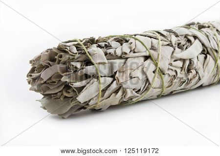 Smudging sage used in a house to bring good luck