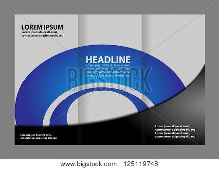 Tri-fold brochure design Tri-fold brochure design vector template design