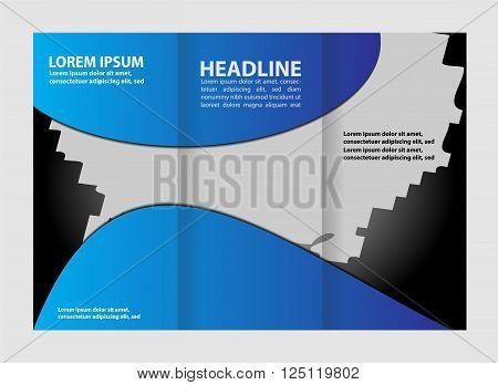 brochure design template vector tri-fold vector template design