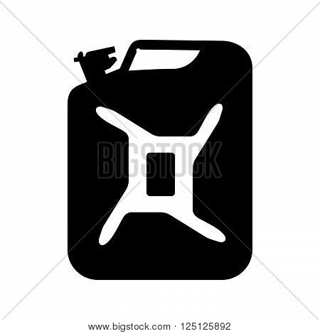 Jerrycan ( shade picture ) on white background
