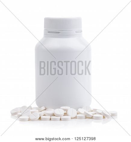 A Pills spilling out of pill bottle