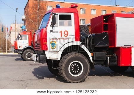 Cabin Of Kamaz Truck As A Russian Fire Engine