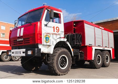 Closeup Photo Of Kamaz 43253 As A Fire Engine