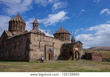 Harichavank, Armenia - Septembr 14, 2013:  Harichavank Monastery in Shirak Province in Armenia.