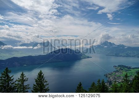 View Of Lake Lucerne On The Slope From Mount Rigi, Switzerland