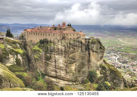 Holy Monastery of Saint Stephen built in the 16th century in a monasterial complex Meteora