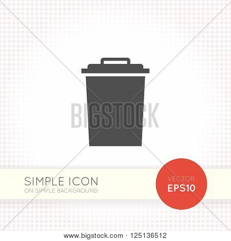 Flat Garbage tank icon. Trash bin icon eps. Trash bin illustration.
