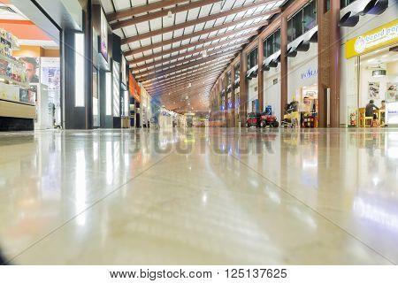 JAKARTA INDONESIA - APRIL 5 2016 : Interior Jakarta (Soekarno-Hatta) International Airport is the main airport on the island of Java