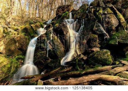 Small Waterfall camera long shutter, blurry water