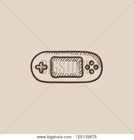 Game console gadget sketch icon.