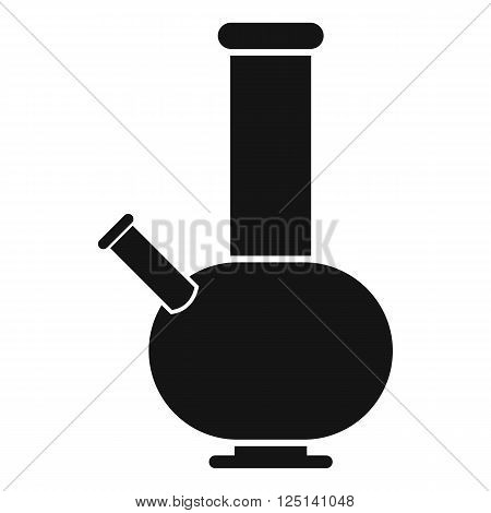 Bong for smoking icon in black simple style isolated on white background