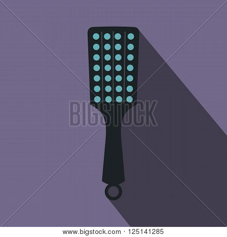 Paddle icon in flat style on a violet background. Sex toys bdsm