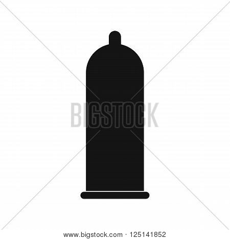 Condom icon in simple style on a white background